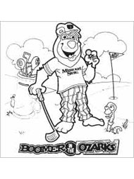 Boomer Golfing Coloring Page