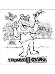 Boomer at the Big Game Coloring Page